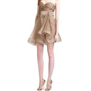 ABS By Allen Schwartz Strapless Organza Dress